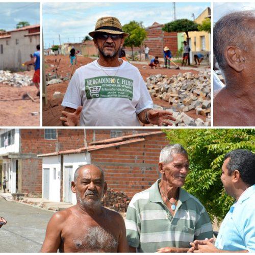 Em Jaicós, moradores comemoram a chegada do calçamento