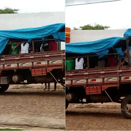 Estudantes percorrem cerca de 30 km em 'pau de arara' para chegar à escola no Norte do Piauí