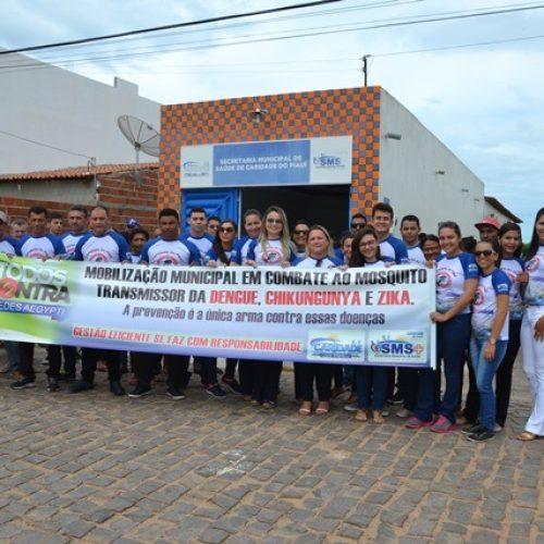 Saúde de Caridade do Piauí realiza mobilização contra mosquito da dengue