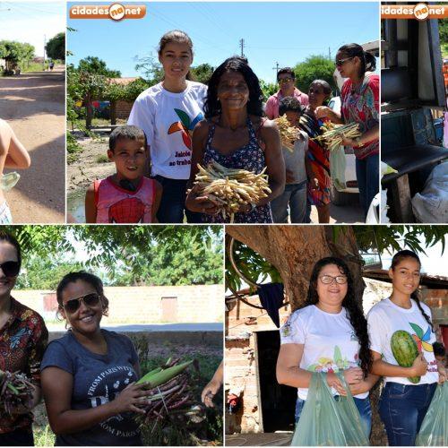 Assistência Social entrega alimentos a famílias em bairros carentes de Jaicós