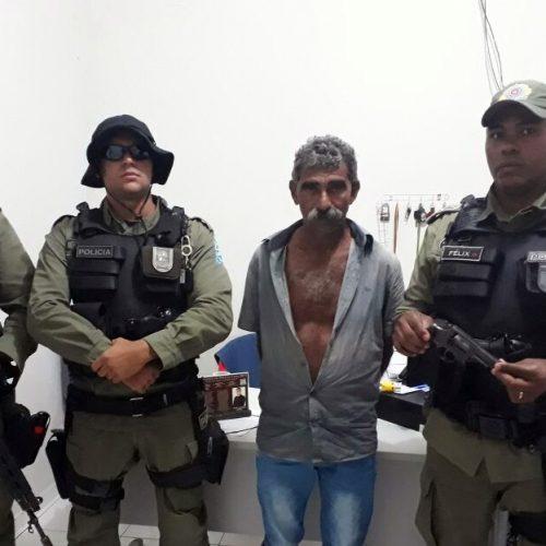 Acusado de assassinato é capturado pela PM no interior de Jaicós