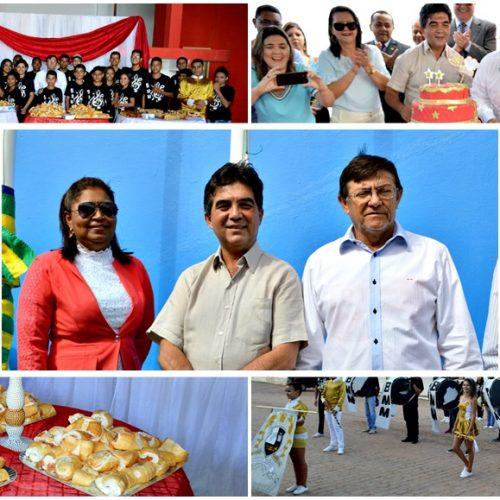 Ato cívico, café comunitário e corte do bolo abrem as comemorações do aniversário de Marcolândia