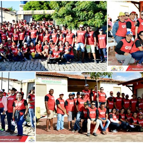 Mutirão contra o Aedes Aegypti mobiliza servidores e a população em Vila Nova do PI; veja imagens