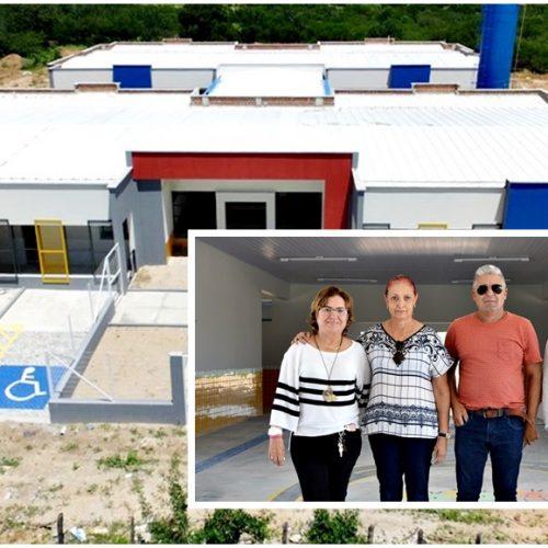 Em Fronteiras, prefeita Maria José e secretária Verônica visitam obras de construção de Creche modelo; fotos