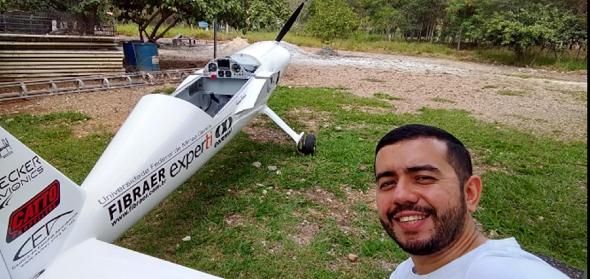 Pesquisador piauiense desenvolve protótipo de avião com propulsão elétrica