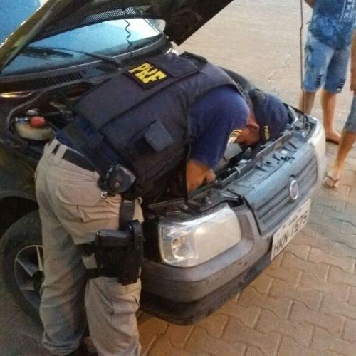PRF recupera na cidade de Picos veículo roubado em Minas Gerais