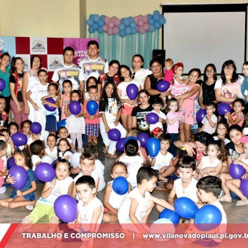 Em Vila Nova, realização de atividades culturais marcam o 4° dia da VIII Semana do Bebê