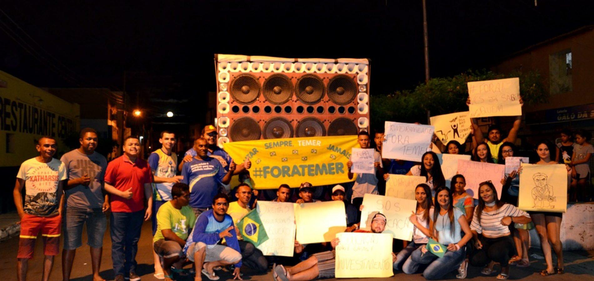 JAICÓS | Populares protestam contra o governo Temer