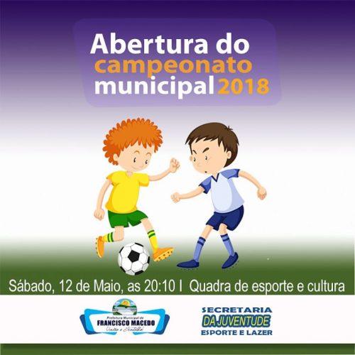FRANCISCO MACEDO   Campeonato Municipal de Futsal inicia no sábado com 10 times e R$ 3 mil em prêmios