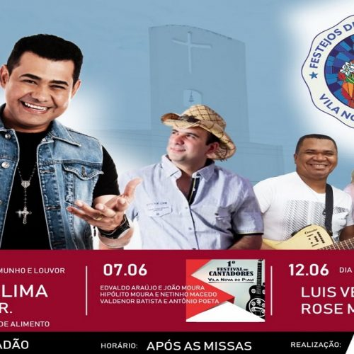Prefeito anuncia shows, festival de cantoria e inaugurações nos festejos de Santo Antônio em Vila Nova do PI. Veja!
