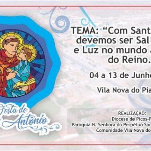 Área pastoral de Vila Nova do Piauí lança programação do festejo de Santo Antônio