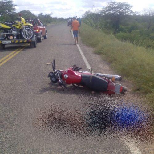 Motociclista fica gravemente ferido em acidente no interior de Patos do Piauí