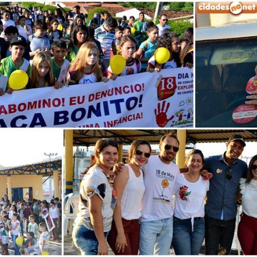 Passeata e blitz encerram ações de combate a violência sexual de crianças e adolescentes em Jacobina do PI