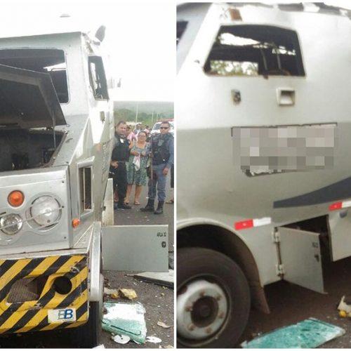 Carro-forte do Piauí é fuzilado no Maranhão e Polícia envia reforço