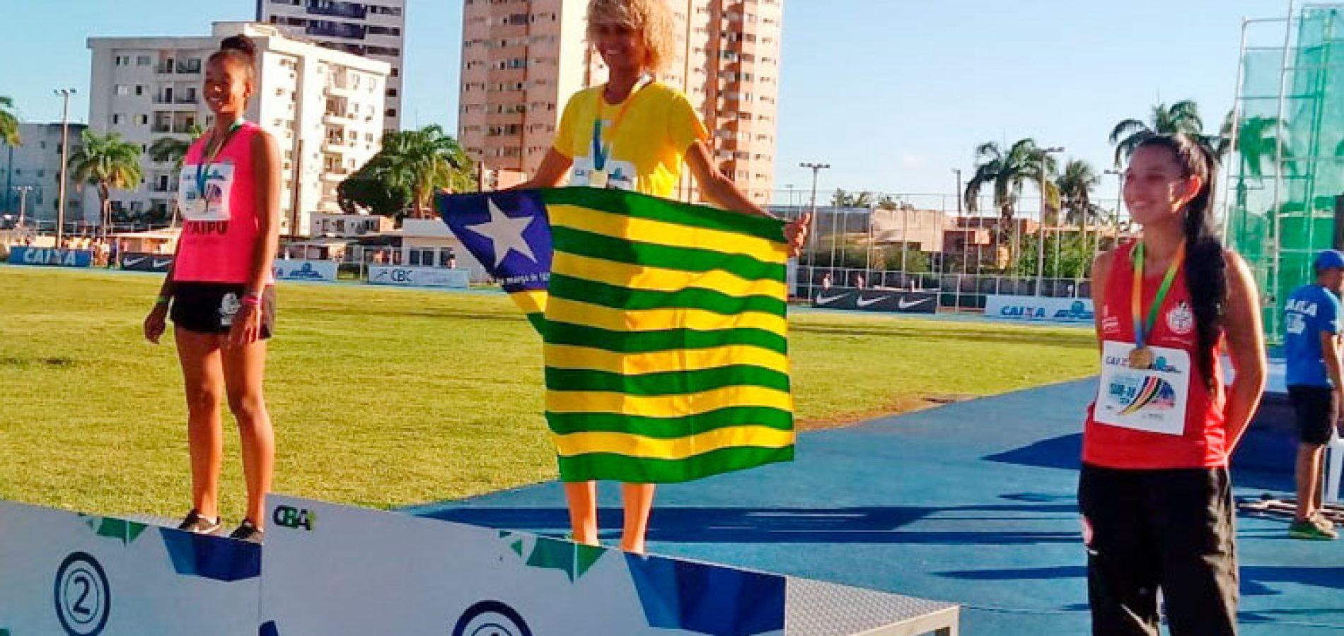 Com dois ouros de Letícia Lima, Piauí fecha Brasileiro de Atletismo com 4 medalhas