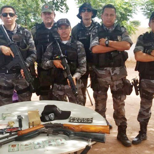 Veículos, armas e drogas são apreendidos e cinco pessoas são presas na região de Picos