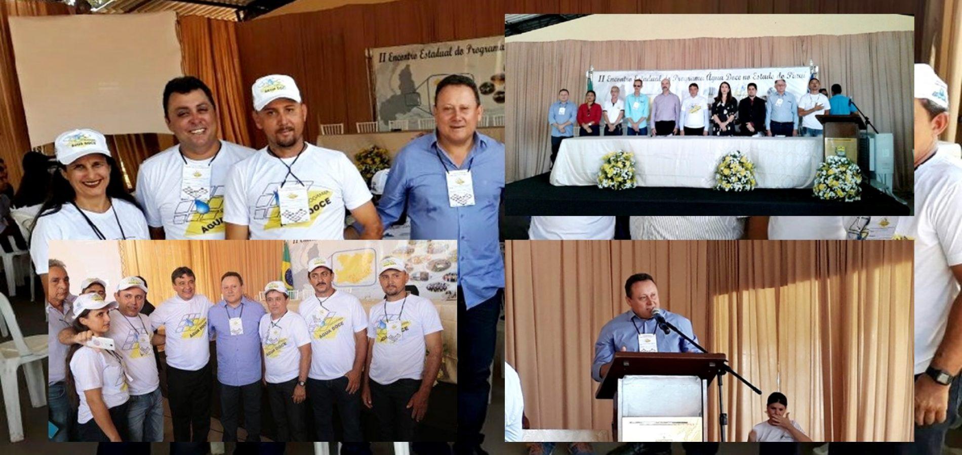 Representantes de Vila Nova do PI participam do II Encontro Estadual do Programa Água Doce