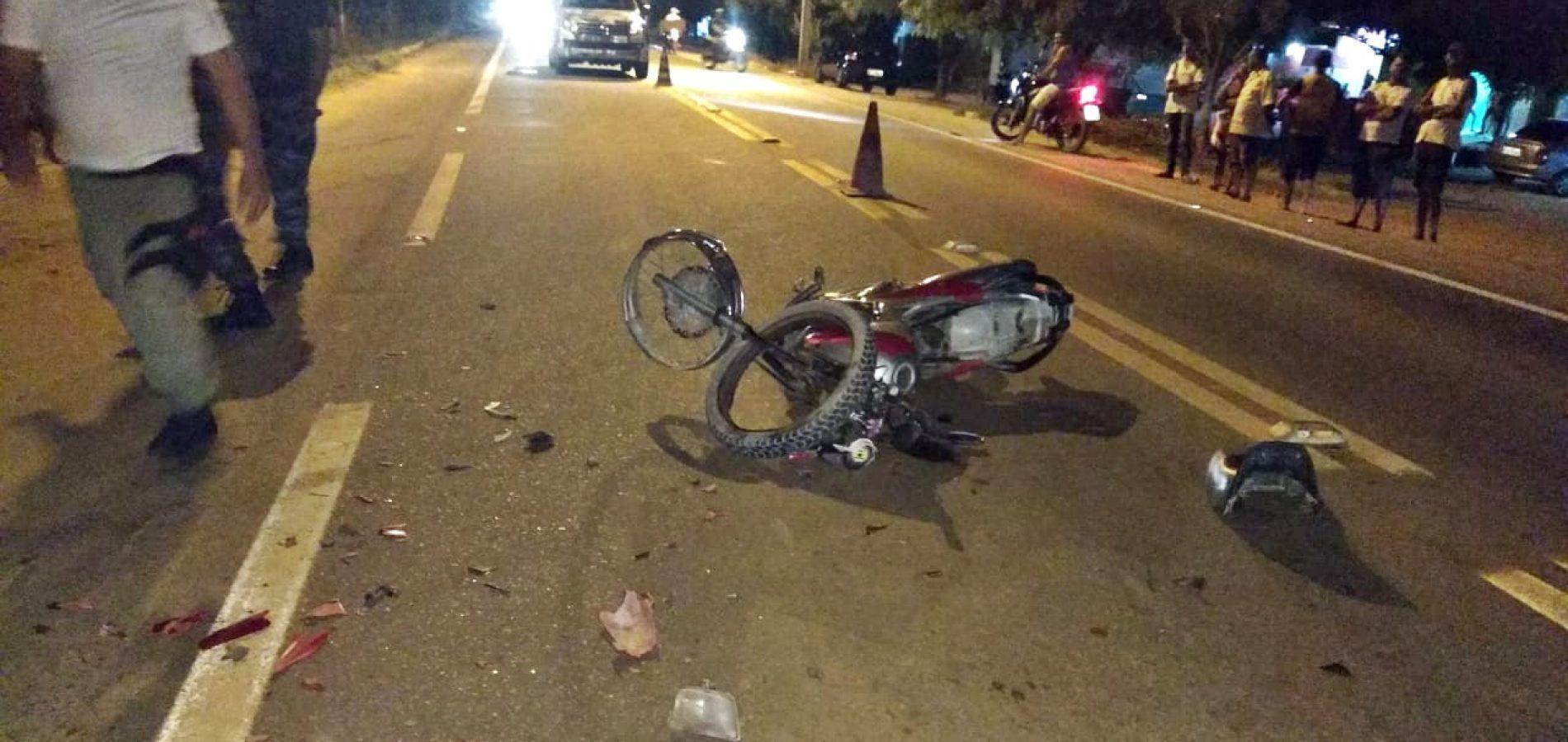 Jaicós registra acidentes na BR 407 e dois motociclistas ficam gravemente feridos