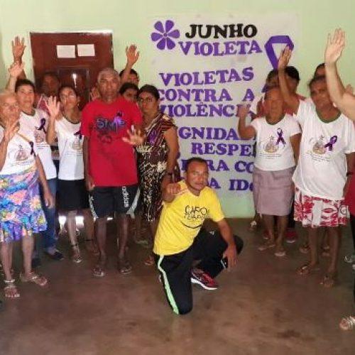 CRAS de Vera Mendes desenvolve ação da campanha 'Junho Violeta'
