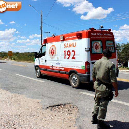 Jaicós registra quatro acidentes nos primeiros dias de setembro; SAMU faz alerta e pede colaboração da população