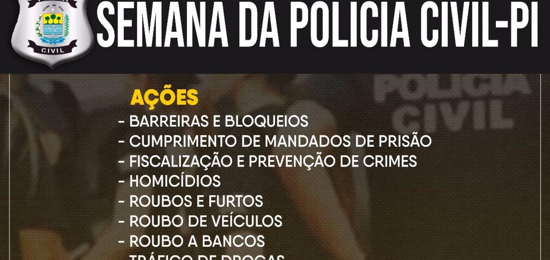 Polícia Civil realiza operações de combate a crimes na capital e no interior do Piauí