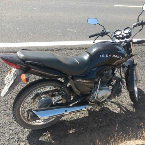 Polícia Militar recupera moto que foi tomada de assalto em estrada vicinal de Alegrete do Piauí