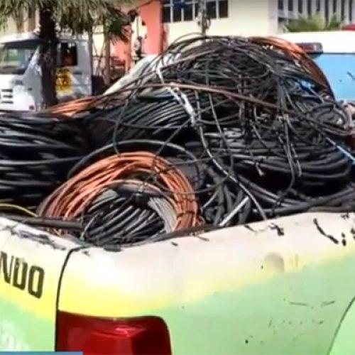 Operação apreende três toneladas de fios roubados no Piauí