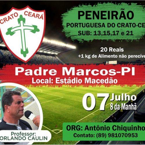 Portuguesa do Crato vai realizar peneira em Padre Marcos