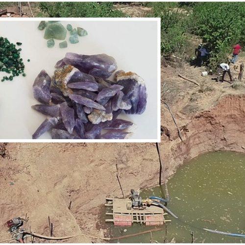 Polícia do PI descobre garimpo clandestino de diamantes e apreende pedras preciosas