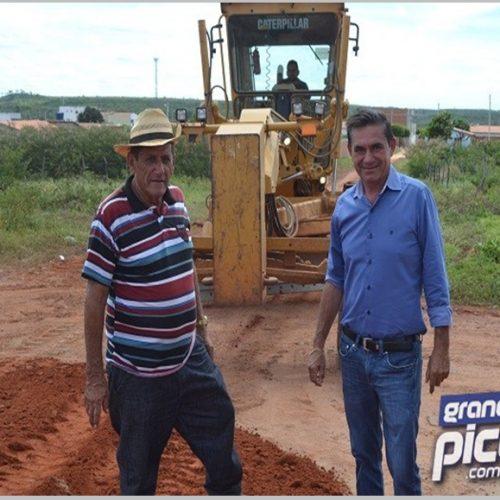Erculano inicia recuperação de estradas vicinais e abertura de novas ruas em Geminiano