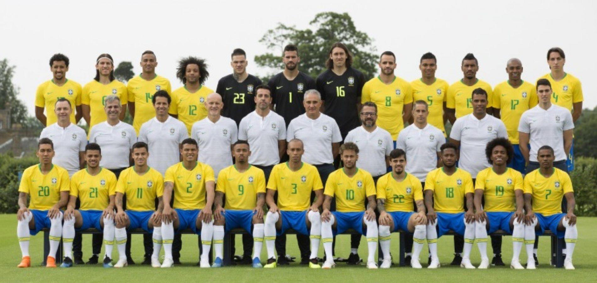 CBF divulga foto oficial da seleção brasileira na Copa da Rússia
