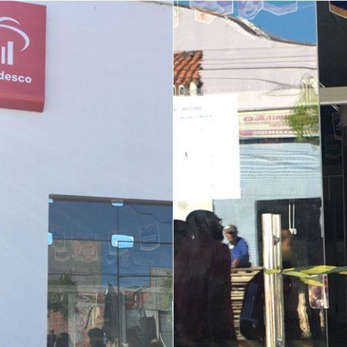 Grupo de 10 homens usou pedestres como escudo ao assaltar banco no Piauí