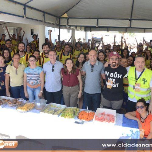 Prefeito de Massapê recepciona voluntários do Impacto Sertão Livre