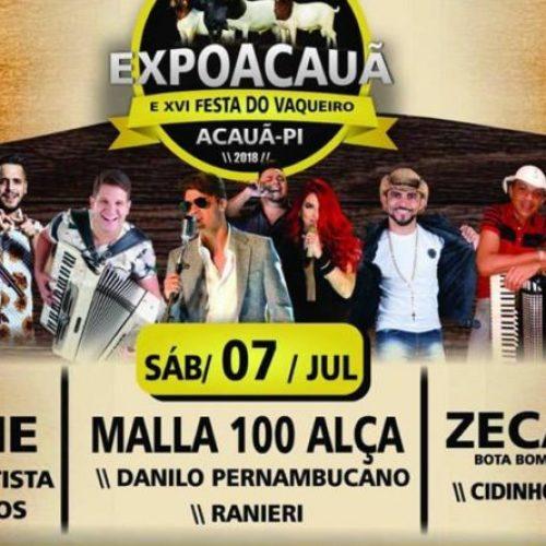 Com vasta programação, 9° edição da ExpoAcauã tem início na sexta-feira (06)
