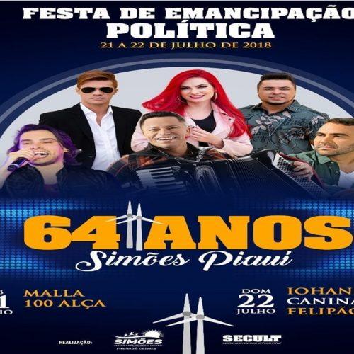 Shows com Mala 100 Alça, Iohannes, Felipão e Caninana do Forró animam final de semana em Simões