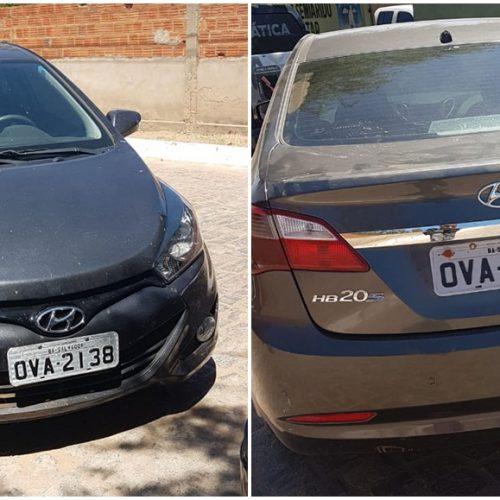 Carro roubado é apreendido com placas clonadas em Simões