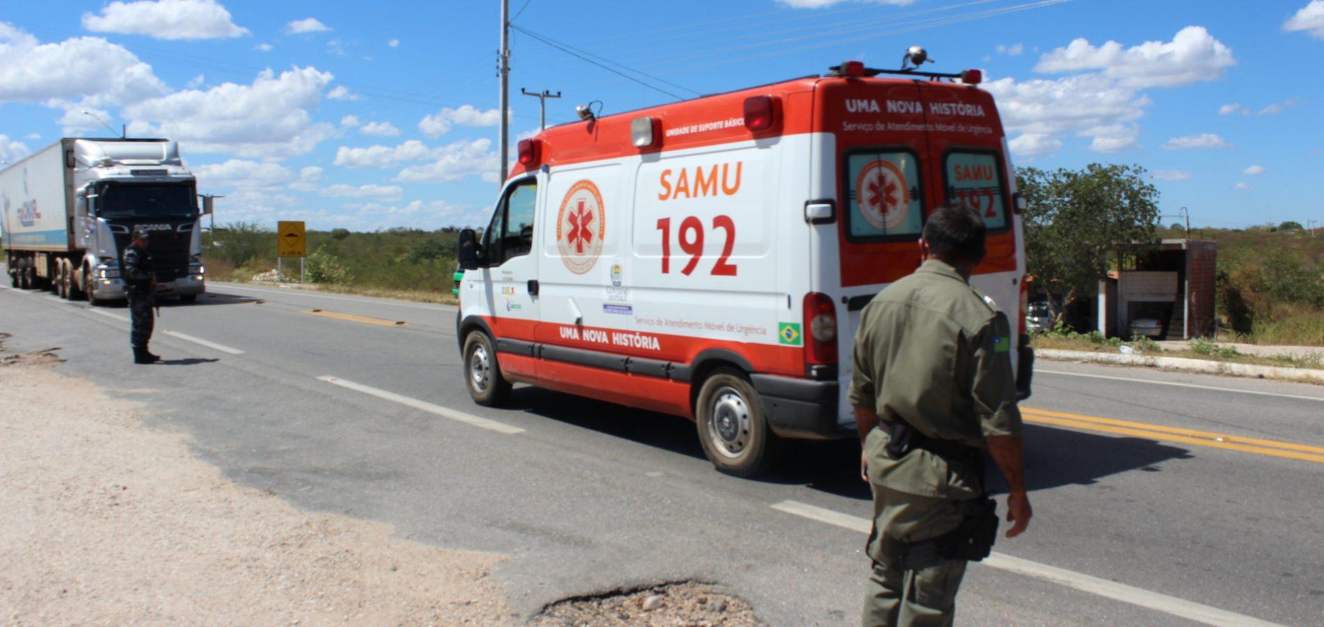 Em 4 meses, SAMU de Jaicós já atendeu 72 ocorrências; 13 mortes foram registradas