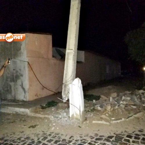 Em Francisco Macedo, caminhão derruba poste e deixa cidade sem energia. Veja!
