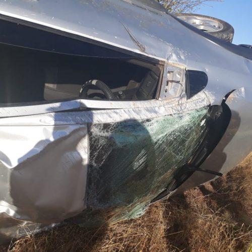 Pneu de carro estoura e causa acidente com família de Alegrete na BR-230