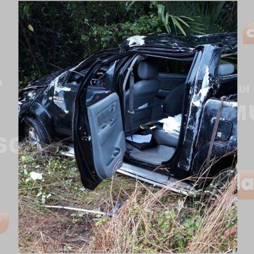 Advogado morre ao sair da pista e capotar veículo na BR-343