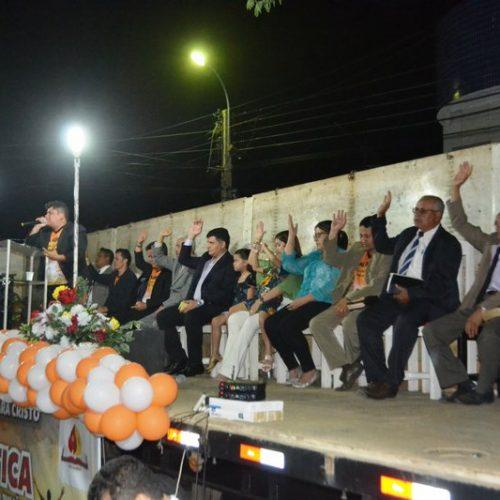 Culto em Praça Pública e distribuição de cestas básicas encerram a 1ª Semana Missionária da Assembleia de Deus em São Julião