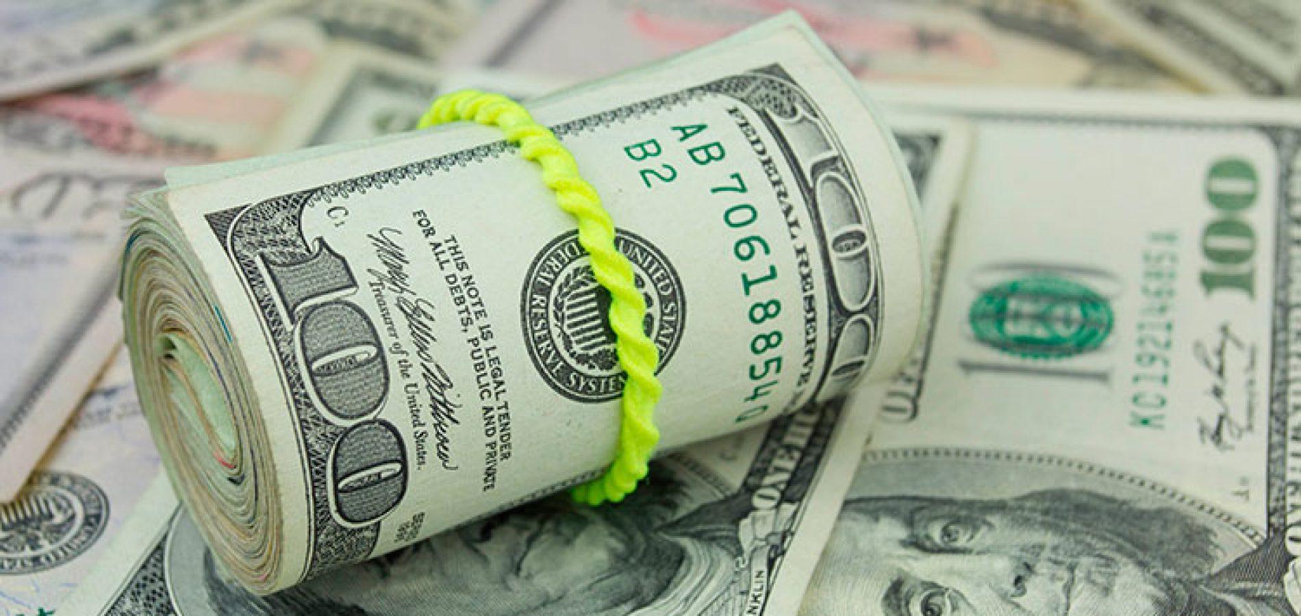 Dólar cai 0,04% e vale hoje R$ 3,69
