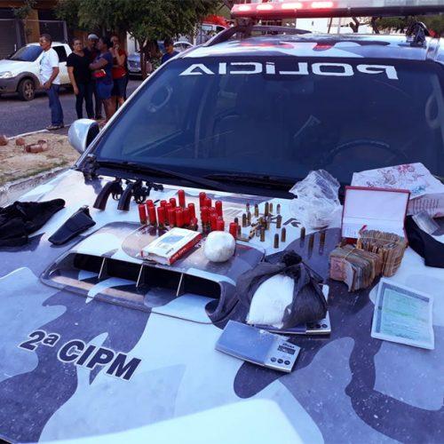 Casal é preso com drogas e munição de uso restrito da PM no PI