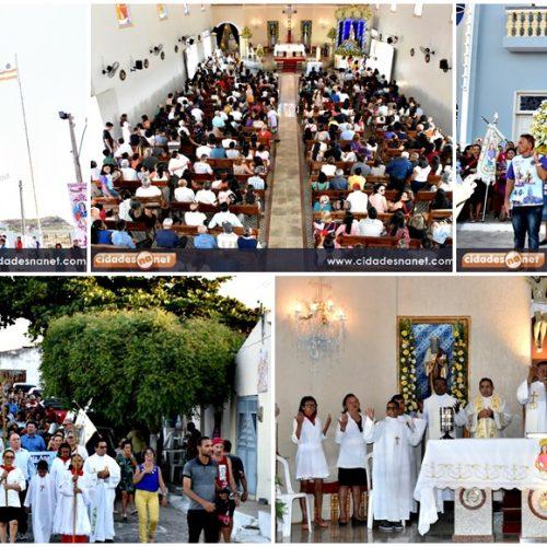 Missa e procissão marcam o encerramento dos festejos de Santa Ana padroeira de Monsenhor Hipólito