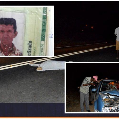 Grave acidente deixa idoso morto e uma pessoa ferida na BR – 316 em Francisco Macedo