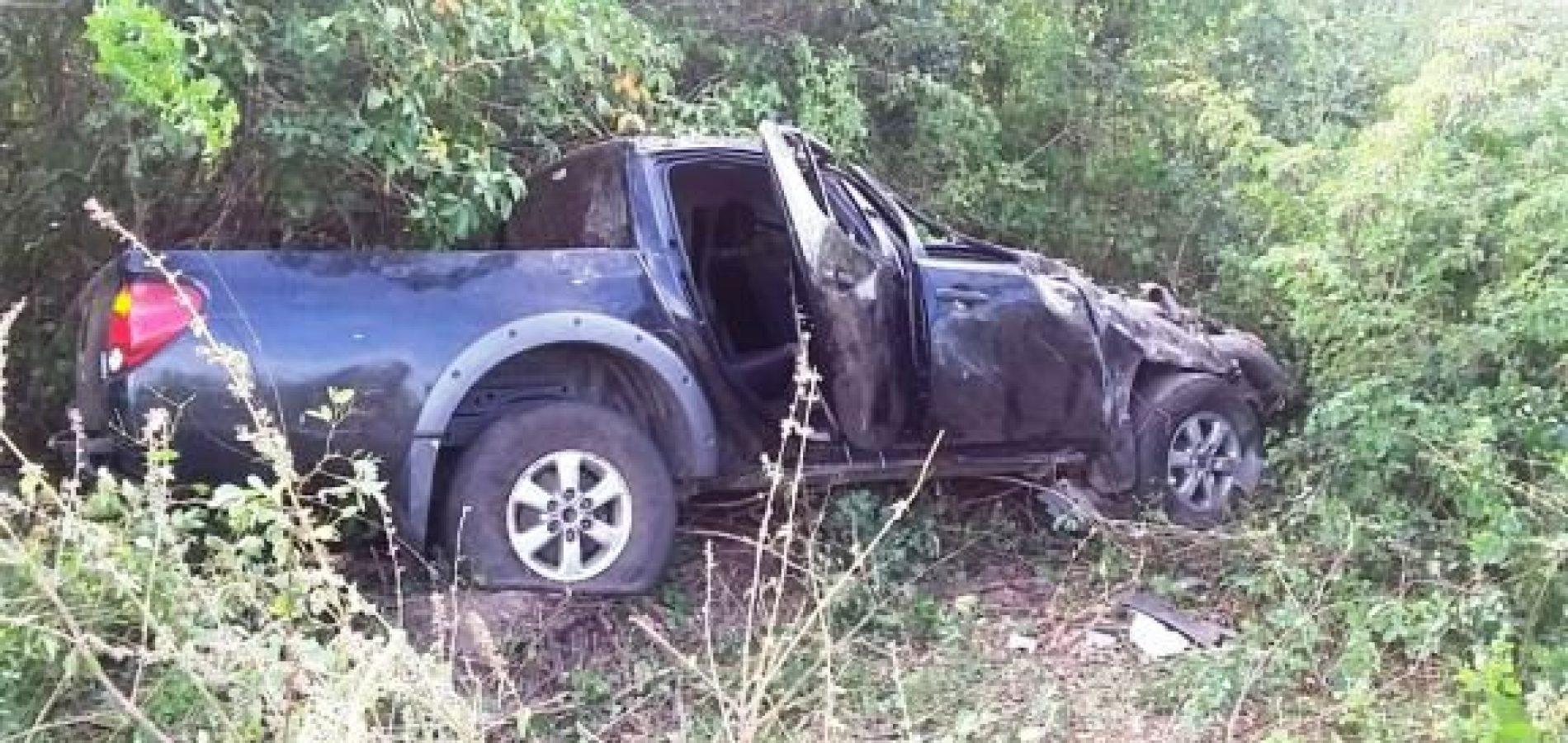 Veículo capota e deixa quatro feridos no Piauí