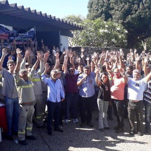 Trabalhadores da CEPISA fazem greve em protesto contra leilão da empresa