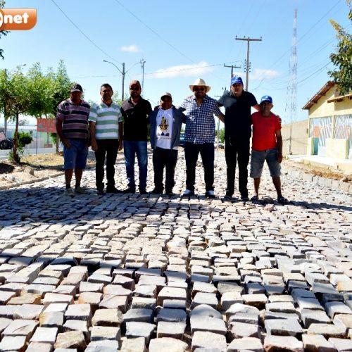 Prefeitura de Alegrete do Piauí investe na pavimentação de ruas e inicia obras de 5 mil m² de calçamentos