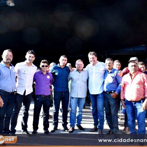 Prefeito Edilson Brito e demais lideranças de Vila Nova do PI participam de convenções estaduais em Teresina