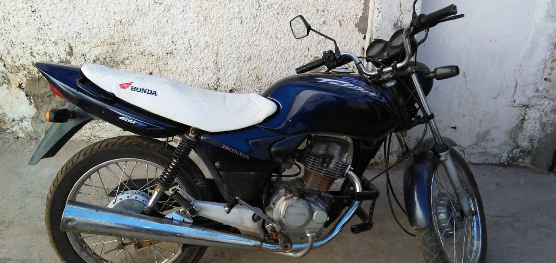Força Tática de Paulistana recupera motocicleta roubada na Bahia